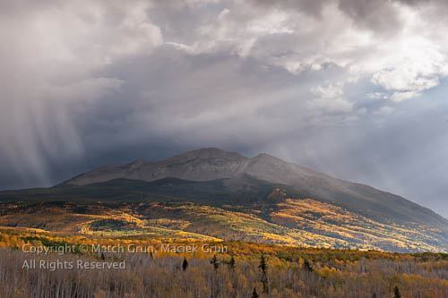 Fall Storm Over West Beckwith Pass