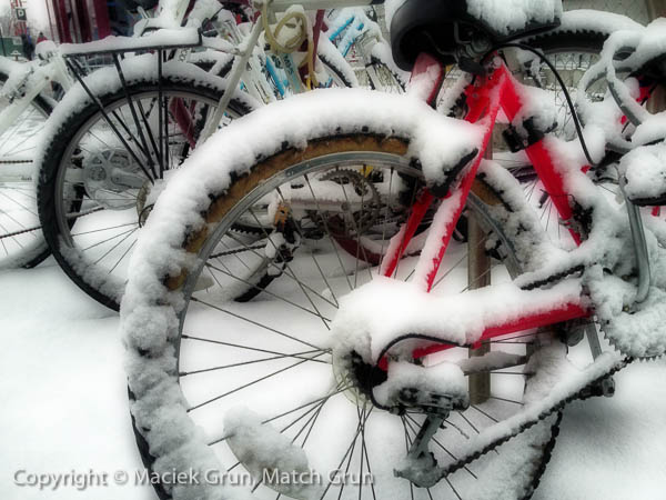 ip4s-4141-Red-Bicycle-In-The-Snow