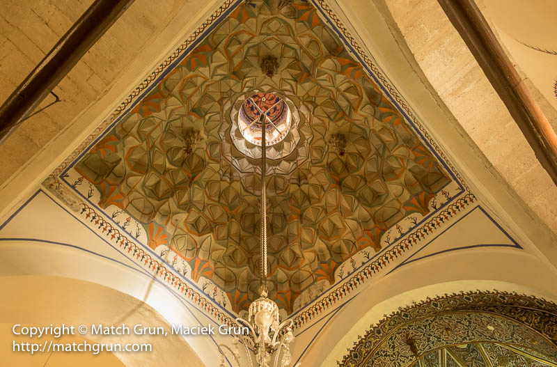 1822-0017-Ceiling-Detail-Above-Chandelier-Konya-Mosque